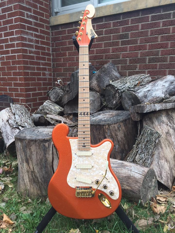 Custom Austin Orange Spakle made for Kevin McCreery of Uncle Kracker   See More!