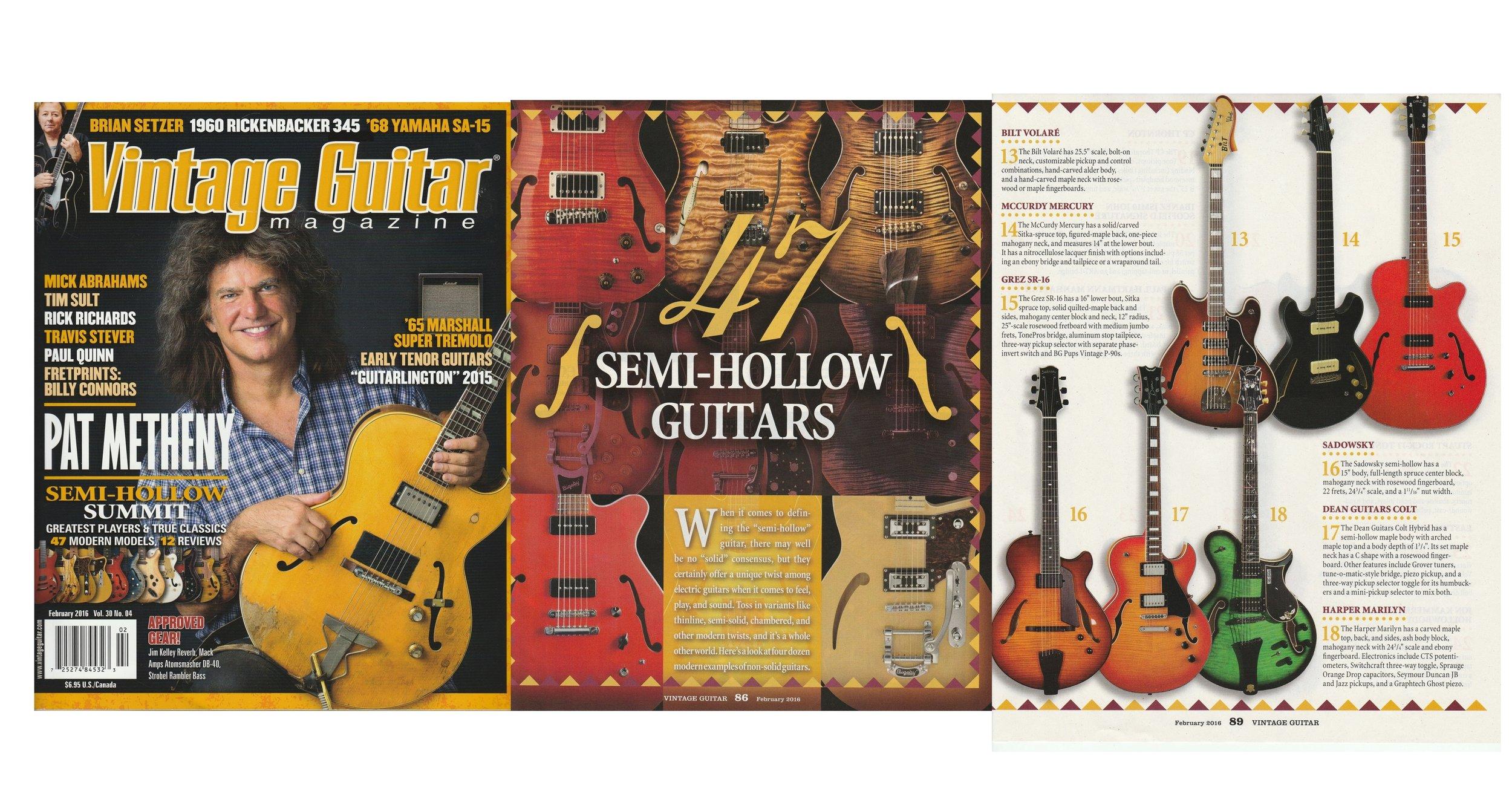 Harper Marilyn featured in Vintage Guitar Magazine!
