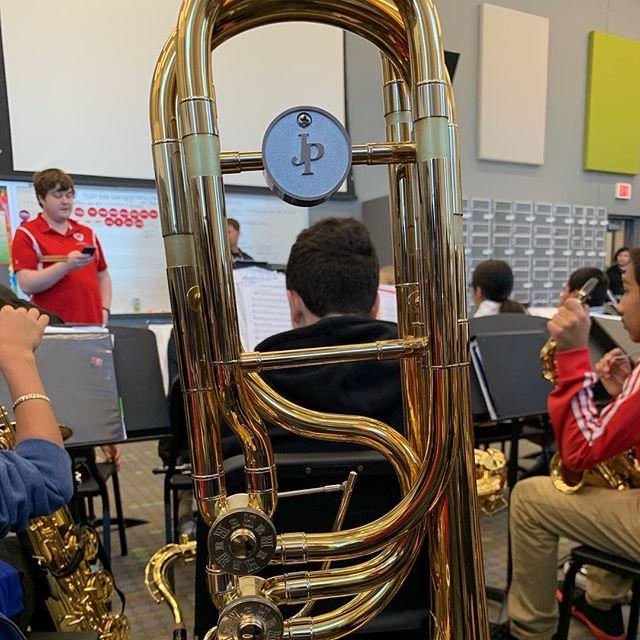 Trying out a JP Rath bass trombone with the New Tech Middle School band today. #jprath #johnpacker #trombone #basstrombone #musician