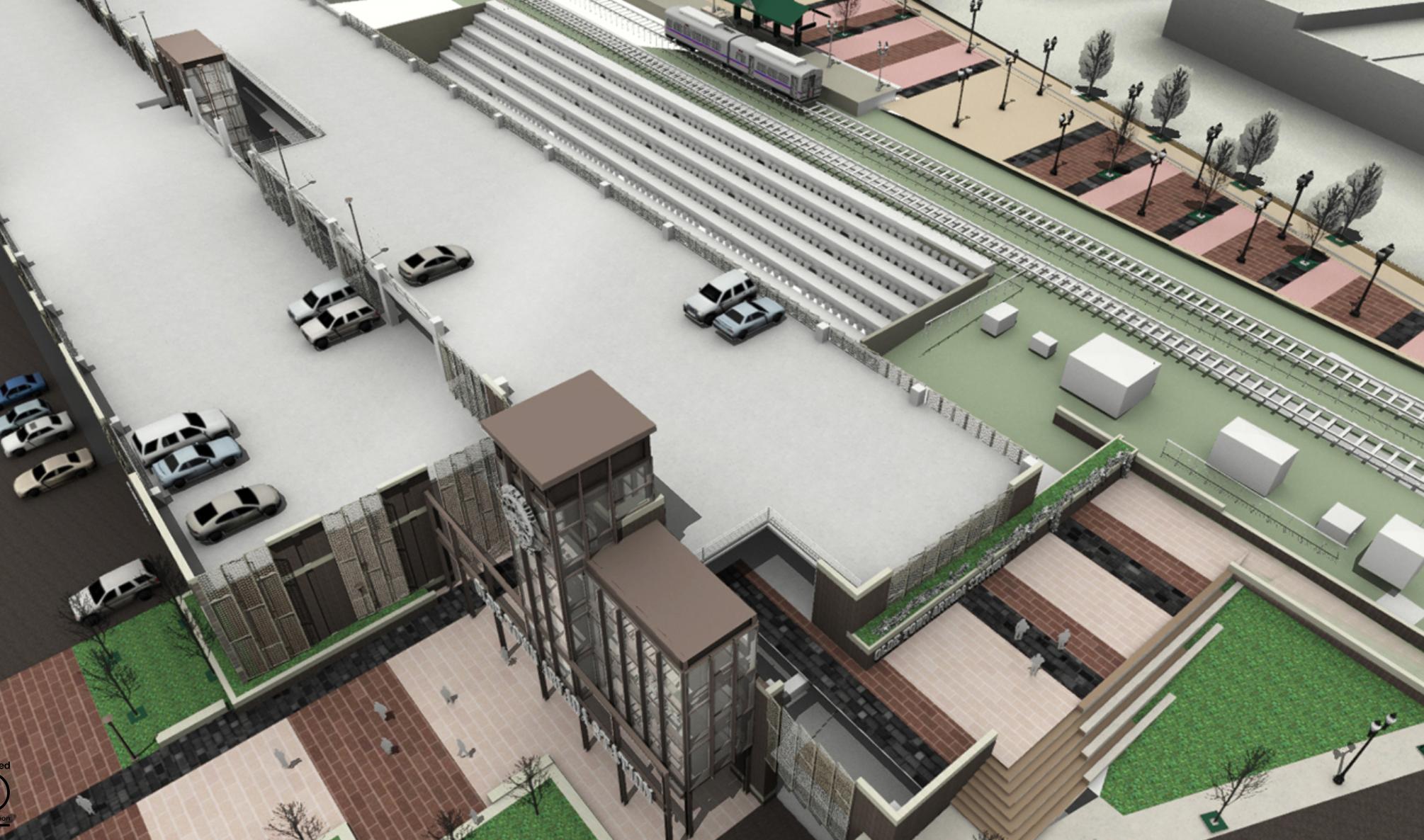 Olde Town Hub Parking Garage Rendering