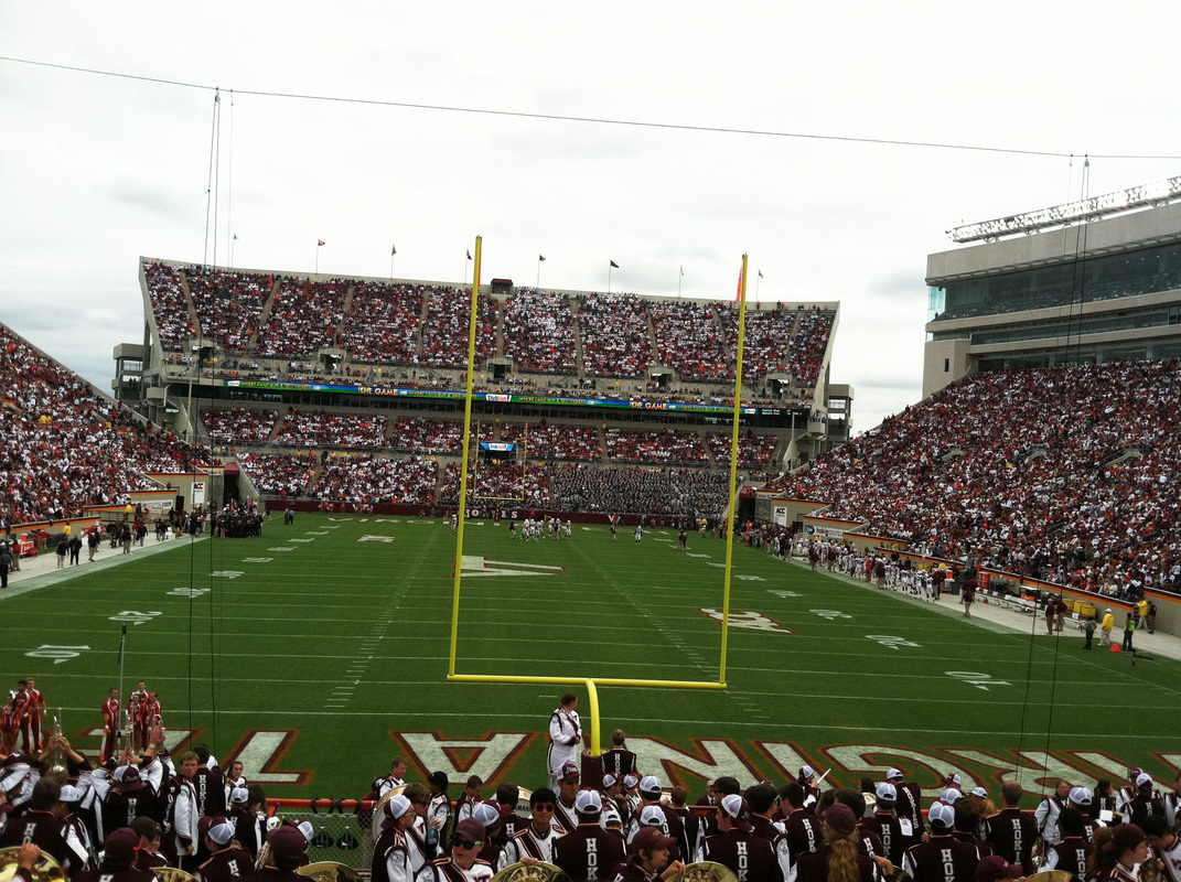 { Exhilarating; probably the one word I can use to describe Virginia Tech football games. }
