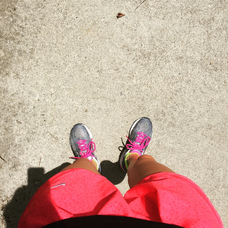 { Breaking in my new kicks. }