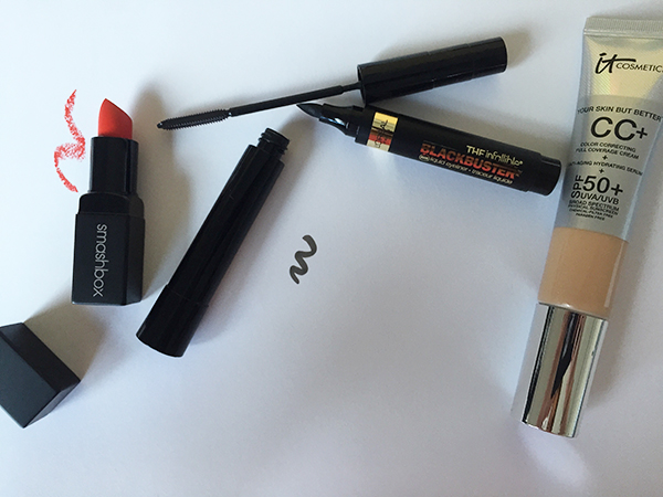 { Smashbox's ' Fireball ' matte, IT Cosmetics  CC+ Cream  and Loreal's  Telescopic Carbon Black  mascara are my ultimate favorites. }