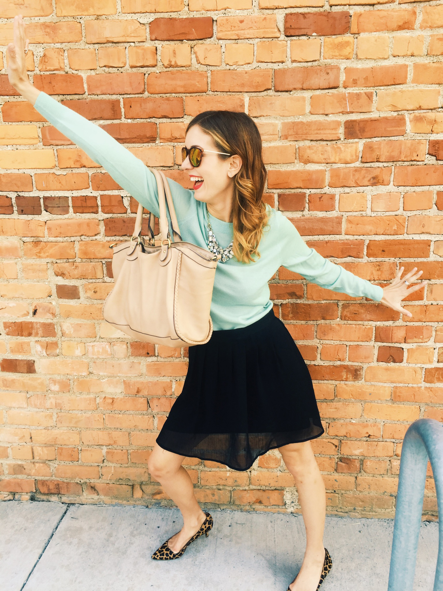 { Because a photoshoot calls for some 'killer' dance moves. Cue: laughter // Outfit  here  }