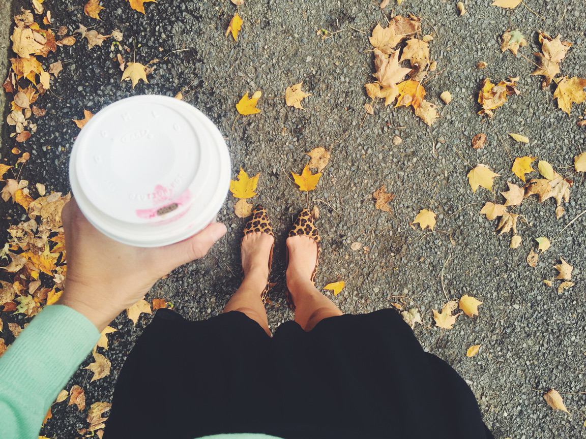 { The first day of fall. / Heels:  here }