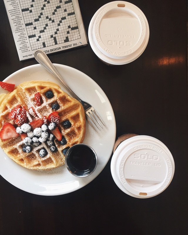 { Lazy Sundays complete with buttermilk waffles and café au laits at Sweet Donkey Coffee. }