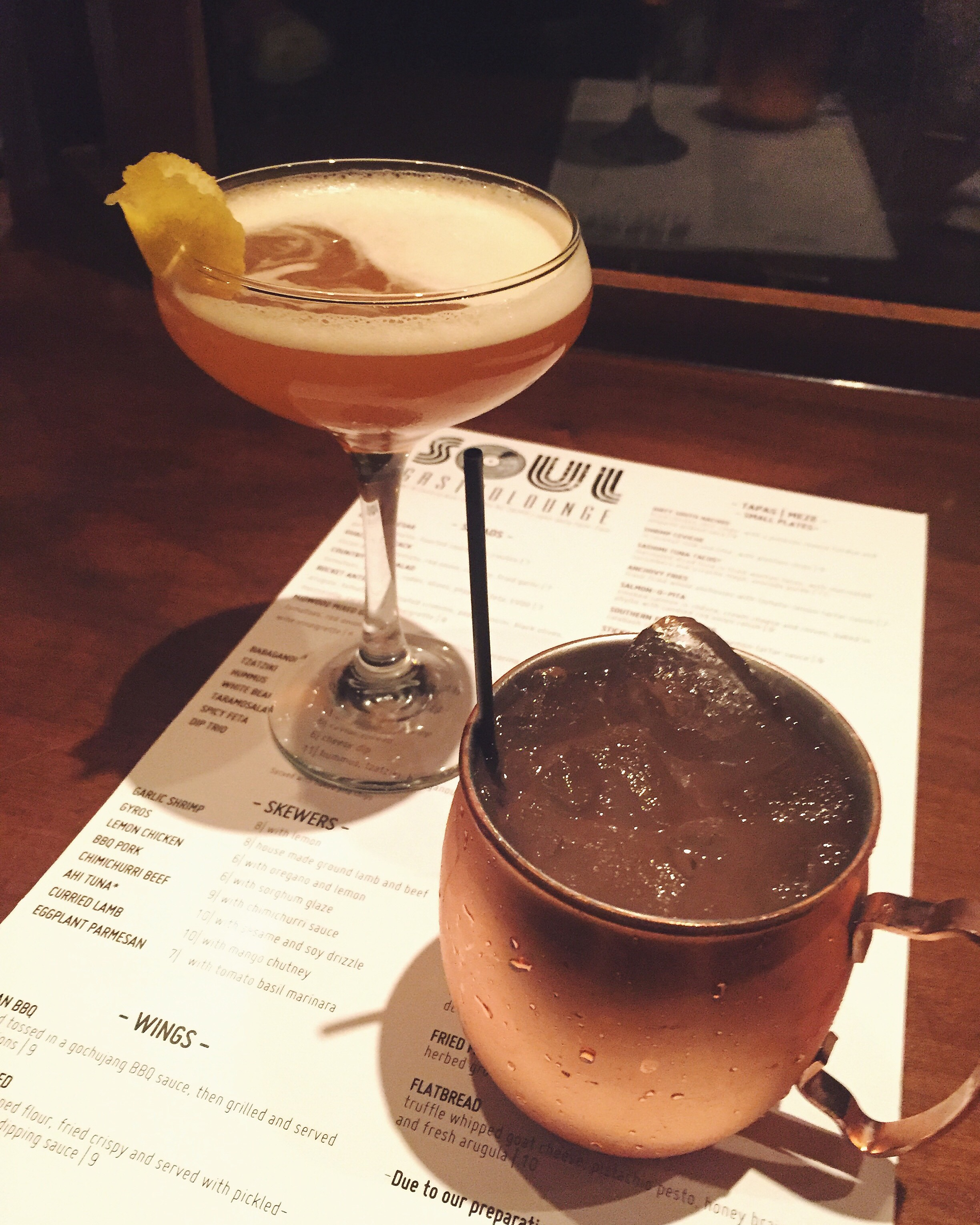{ Old-Fashioned X Winter Moscow Mule.  Soul Gastrolounge . }