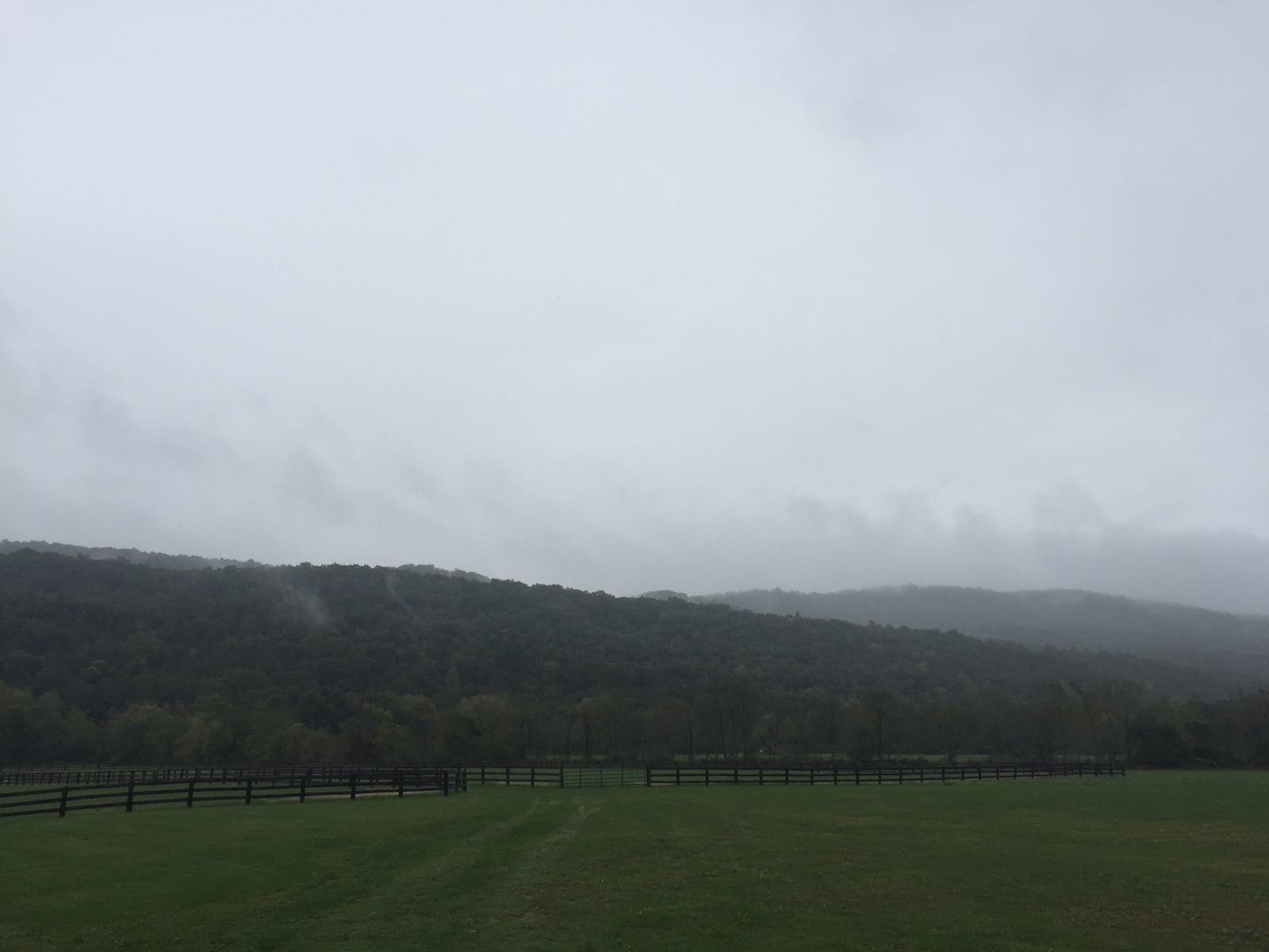 { Even with the rain and fog, these mountains still managed to be beautiful. }