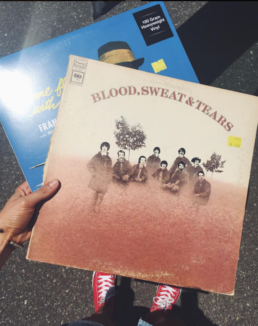 { Blood, Sweat & Tears for $1 and a Frank Sinatra vinyl from Lunchbox Records }