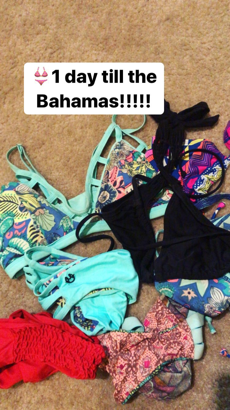 { I wanted to bring my entire 2 full drawers worth of bikinis, but I guess that's not appropriate....so these will do. }