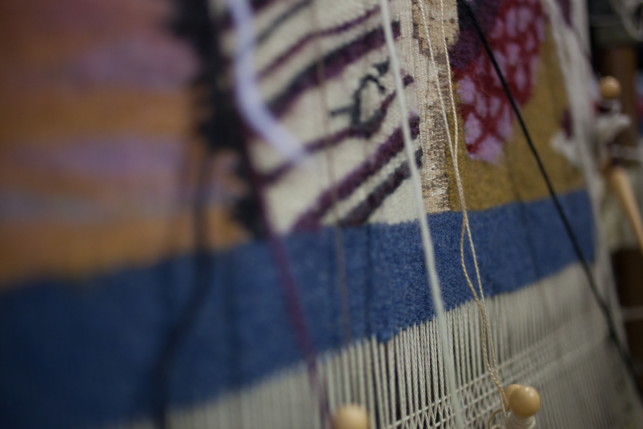 Delicious tapestry weaving by Denise Jones-Chu, @ Hello Beautiful.