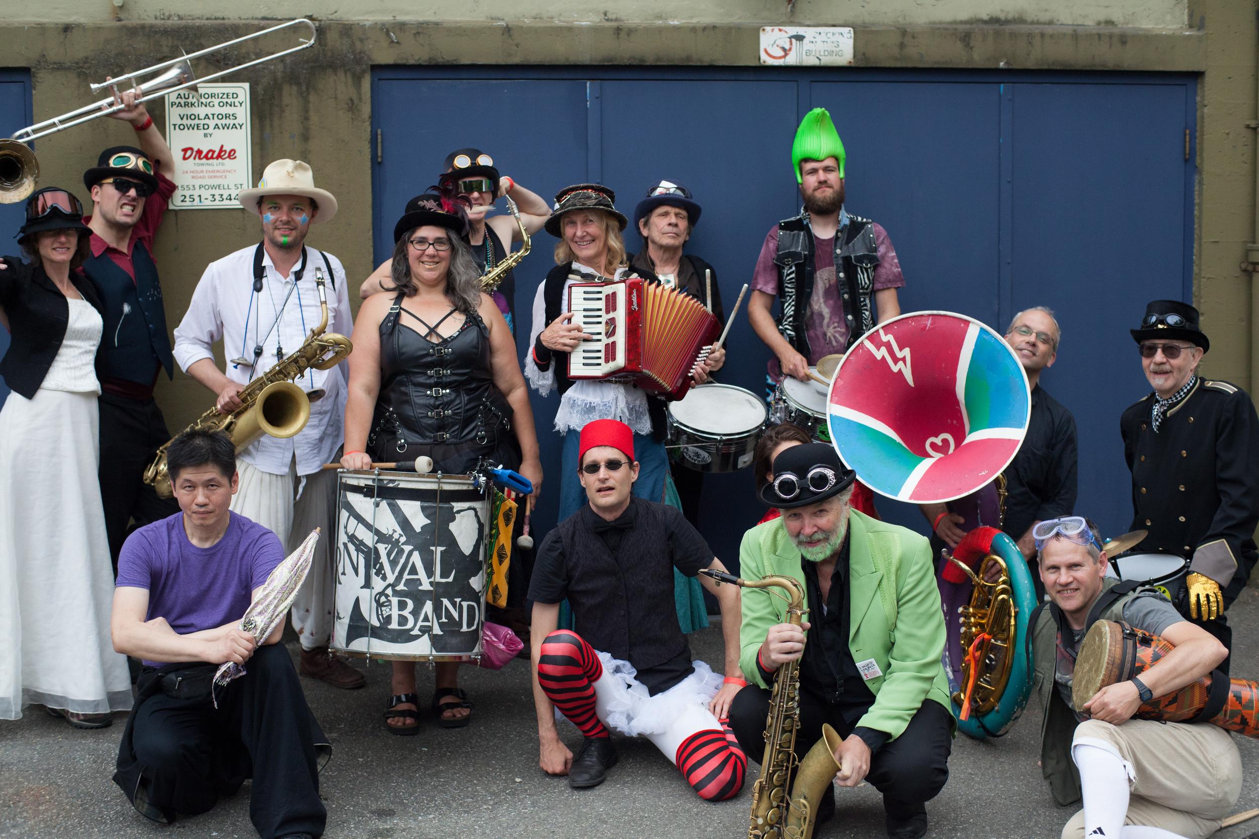 The Carnival Band motley crew group shot!