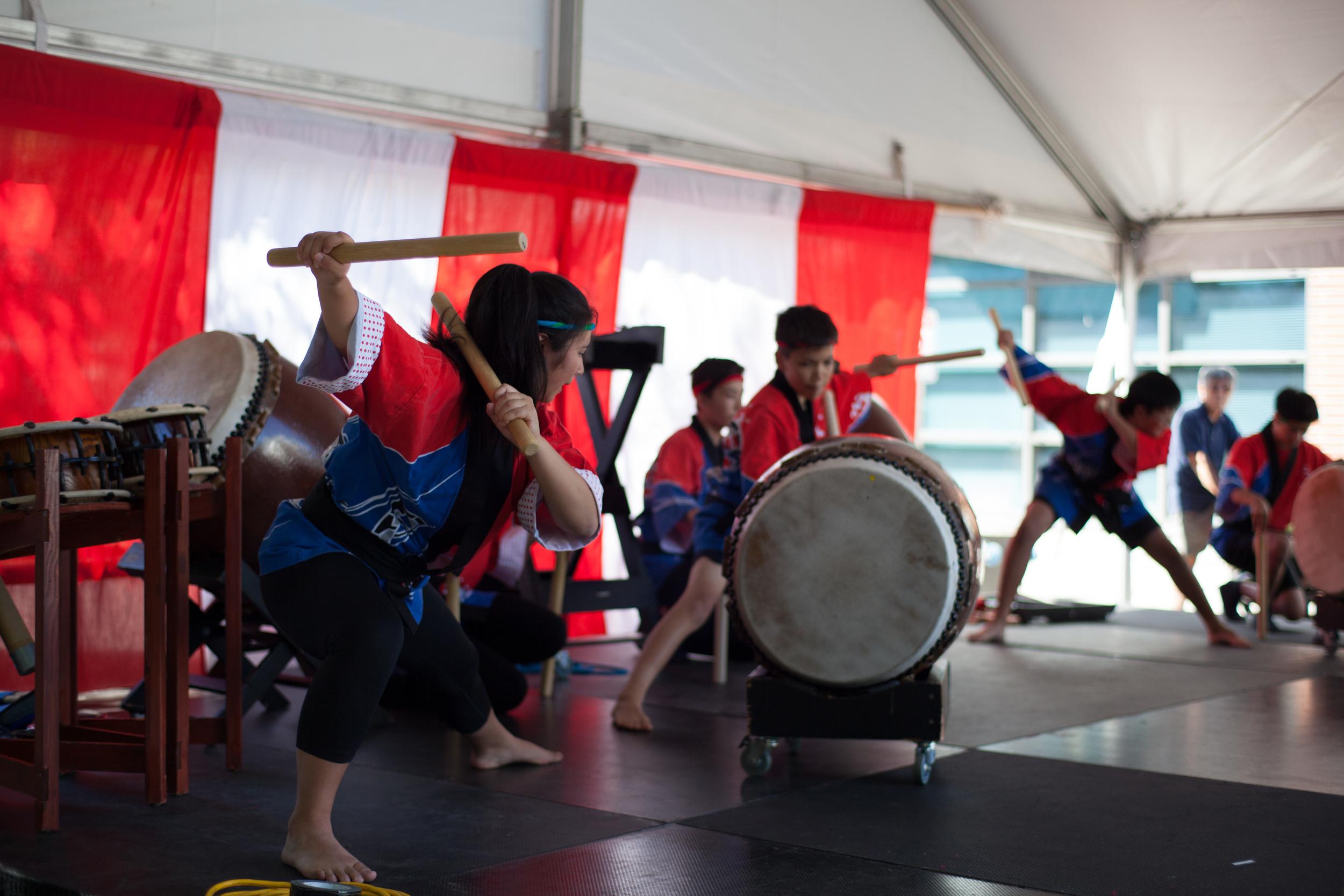 Chibi Taiko drummers.
