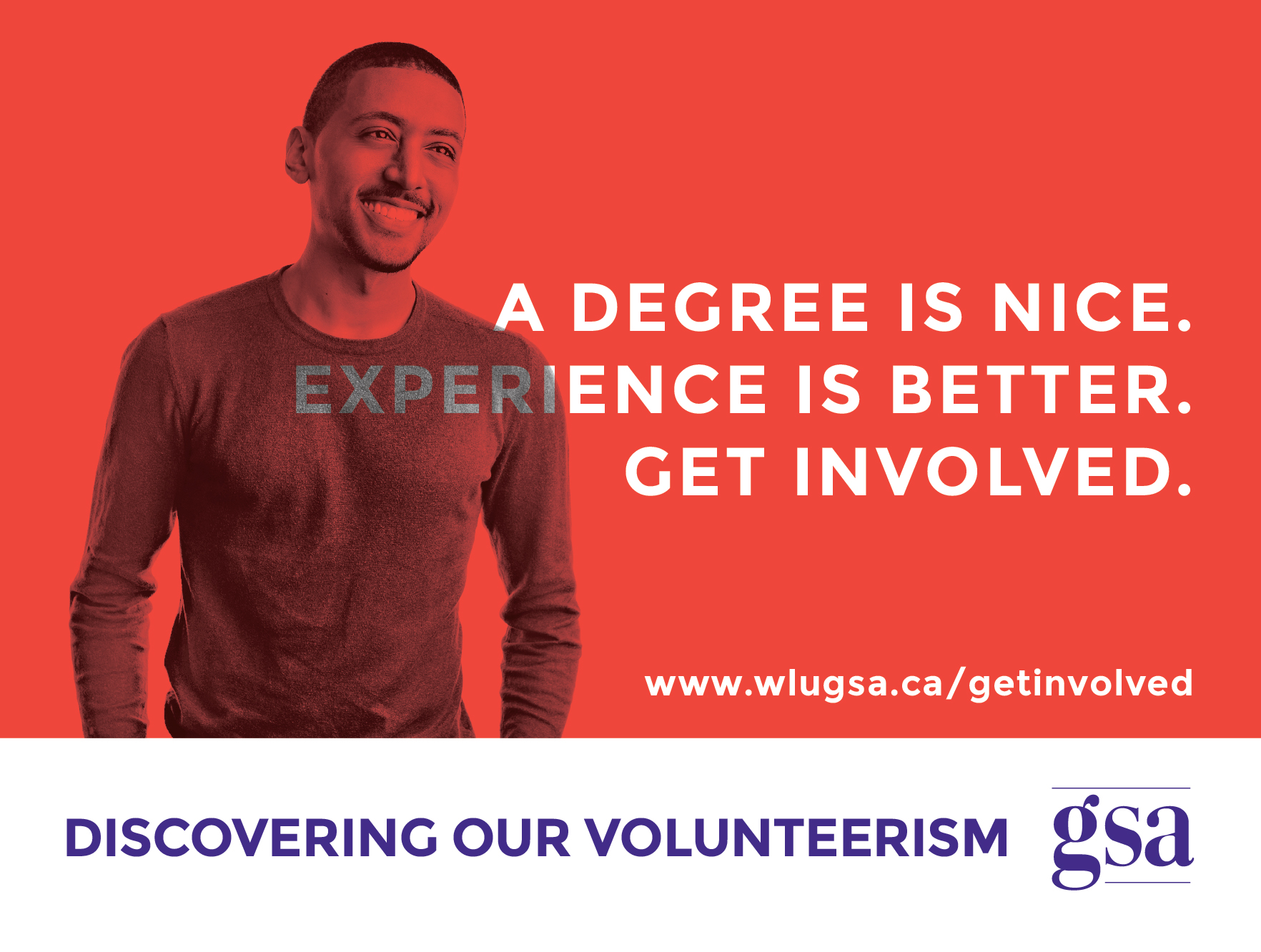 """A degree is nice. Experience is better. Get involved."" - Nathaniel"
