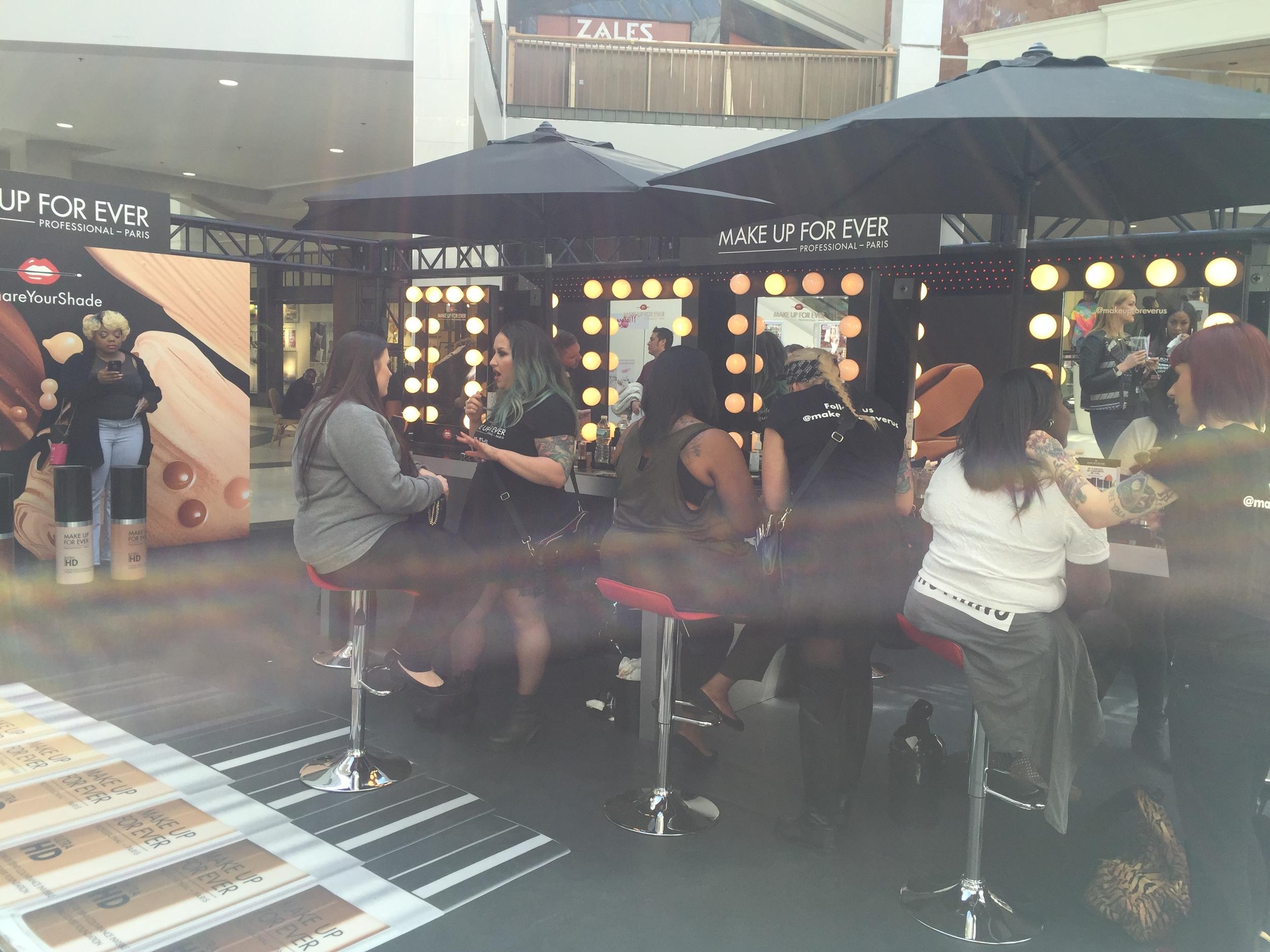 Make Up For Ever's #ShareYourShade Mega Event at Perimeter Mall, Atlanta, Georgia