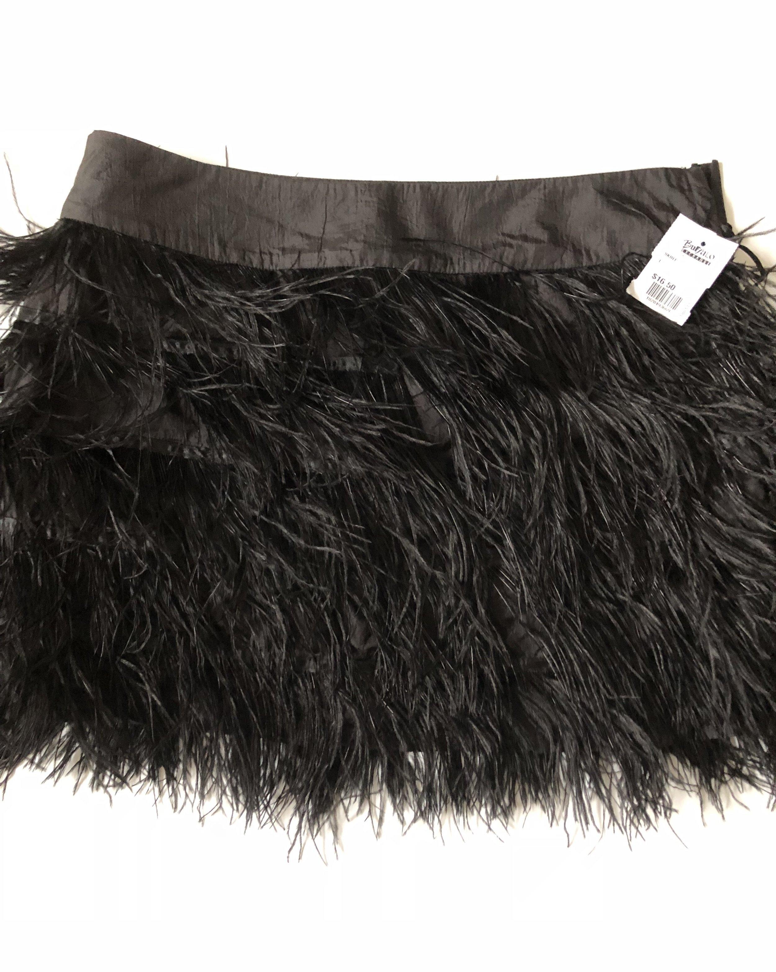 Fringe mini skirt $16.50, size large. It fits perfectly!