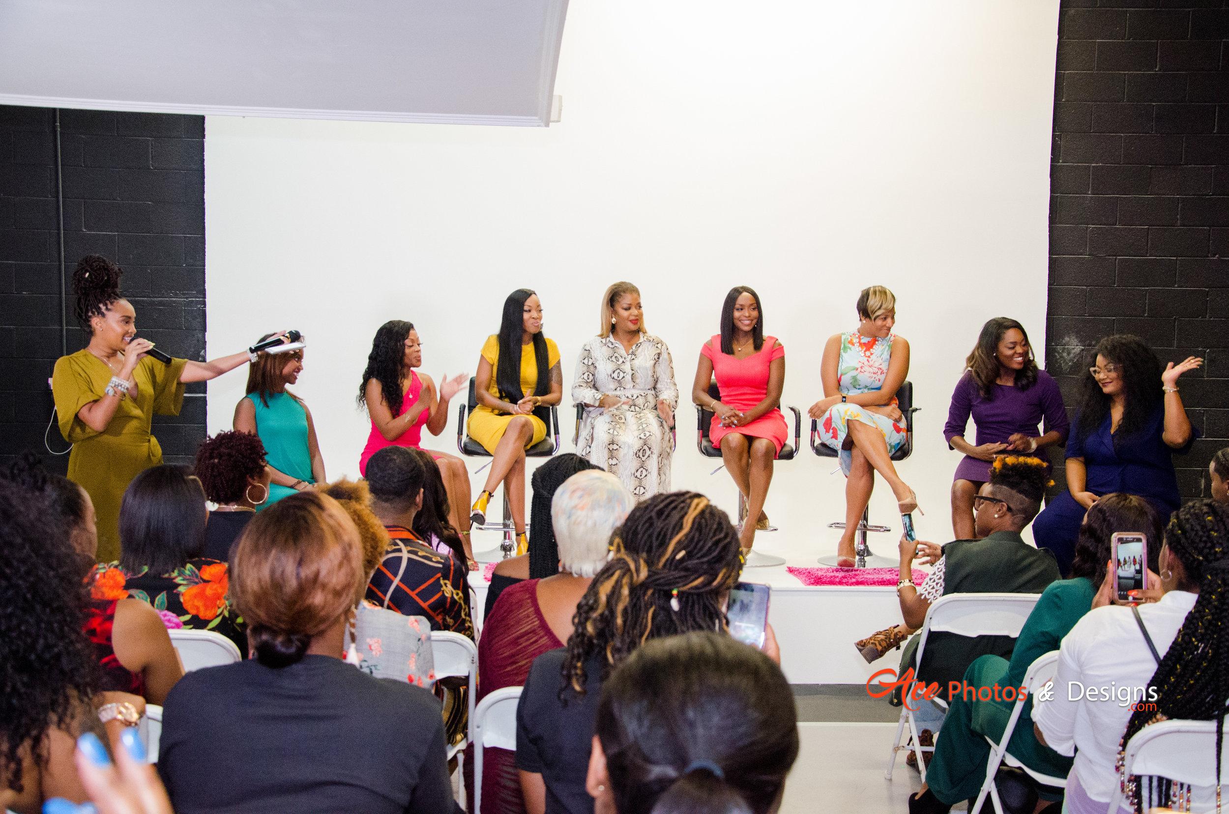 The Media Girls on Tour Atlanta Panelists. Photo cred: Ace Photos & Designs