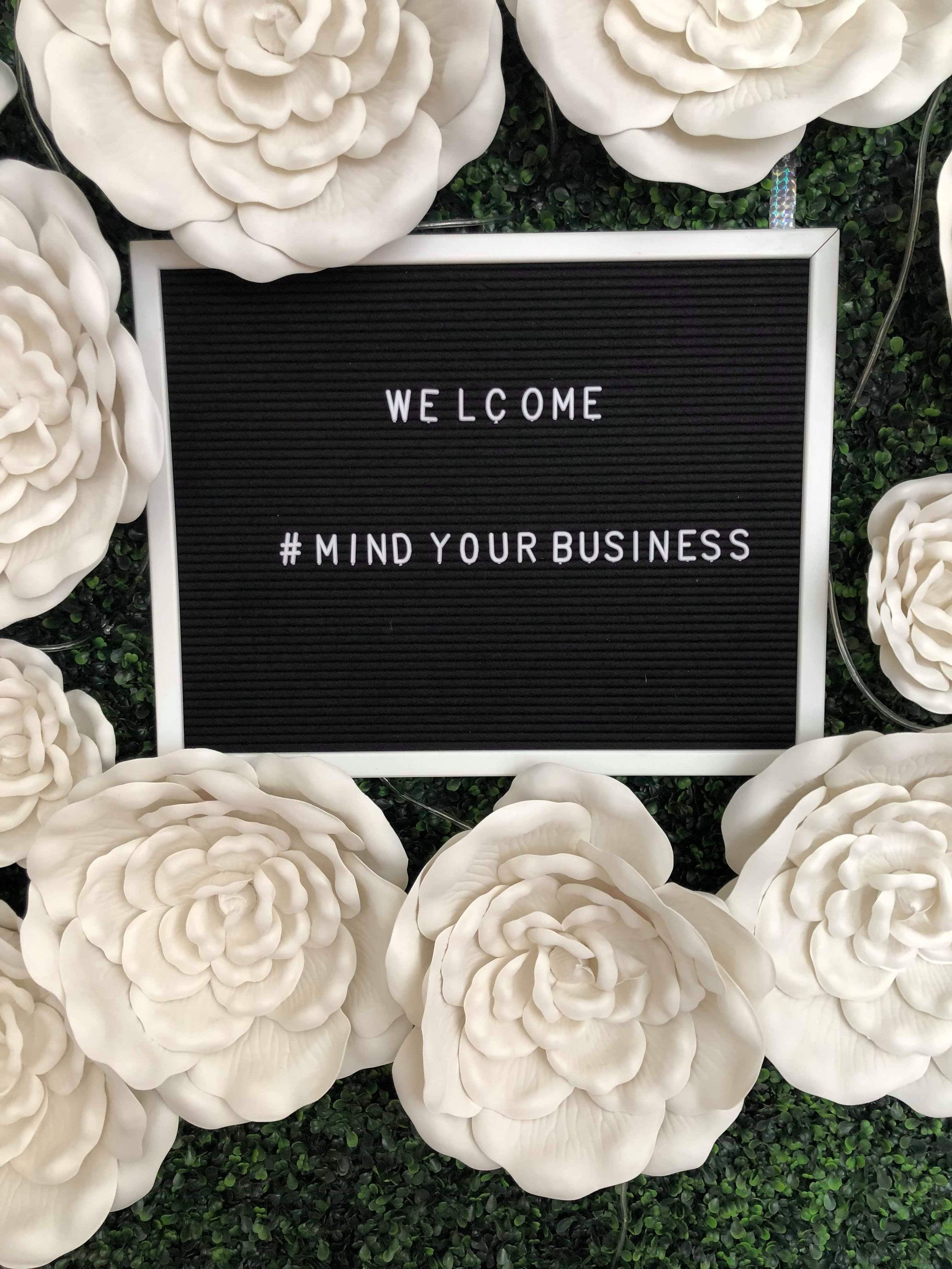 Welcome to the Mind Your Business Series!! The event was held at Holly's Event Center in Midtown Atlanta.