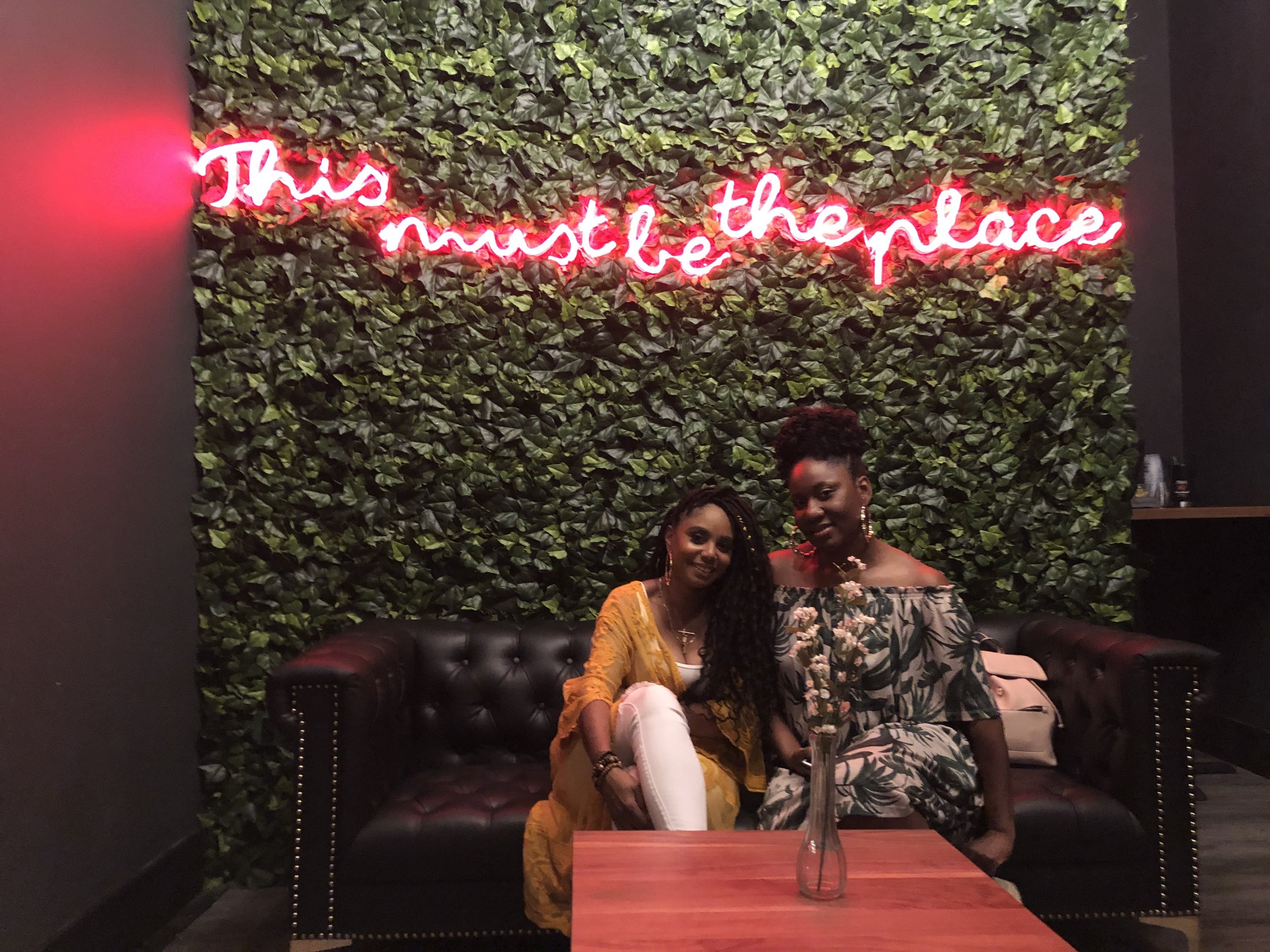 Jennifer J. with her best friend, Chaneka at The Ivy in Cleveland, OH.