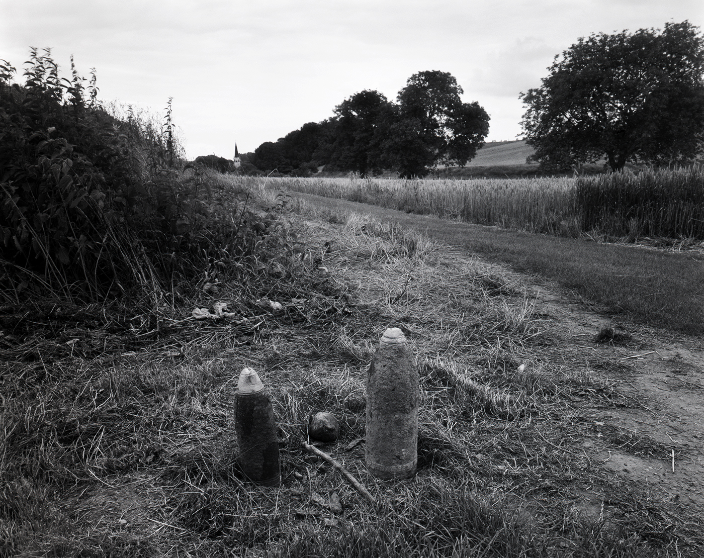 Shells left for disposal, Marne