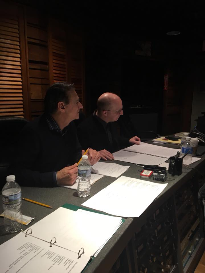 Ken Navarro & associate producer Dan Lamaestra in the control room at Omega Studios.