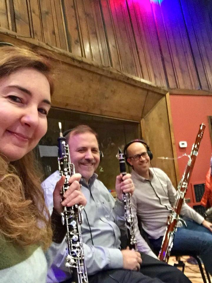Some of the finest woodwind players you will ever hear - Fatma Daglar (oboe), Robert DiLutis (clarinet) and Ben Greanya (bassoon). Not pictured (because she was taking the photo) is Julianna Nickel (flutist extraordinaire)