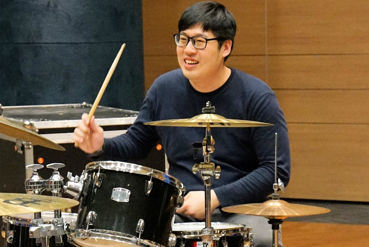 """Chun Leng showcasing his drumming talent at 'Shed!' event organised by """"The Drummer Community"""""""