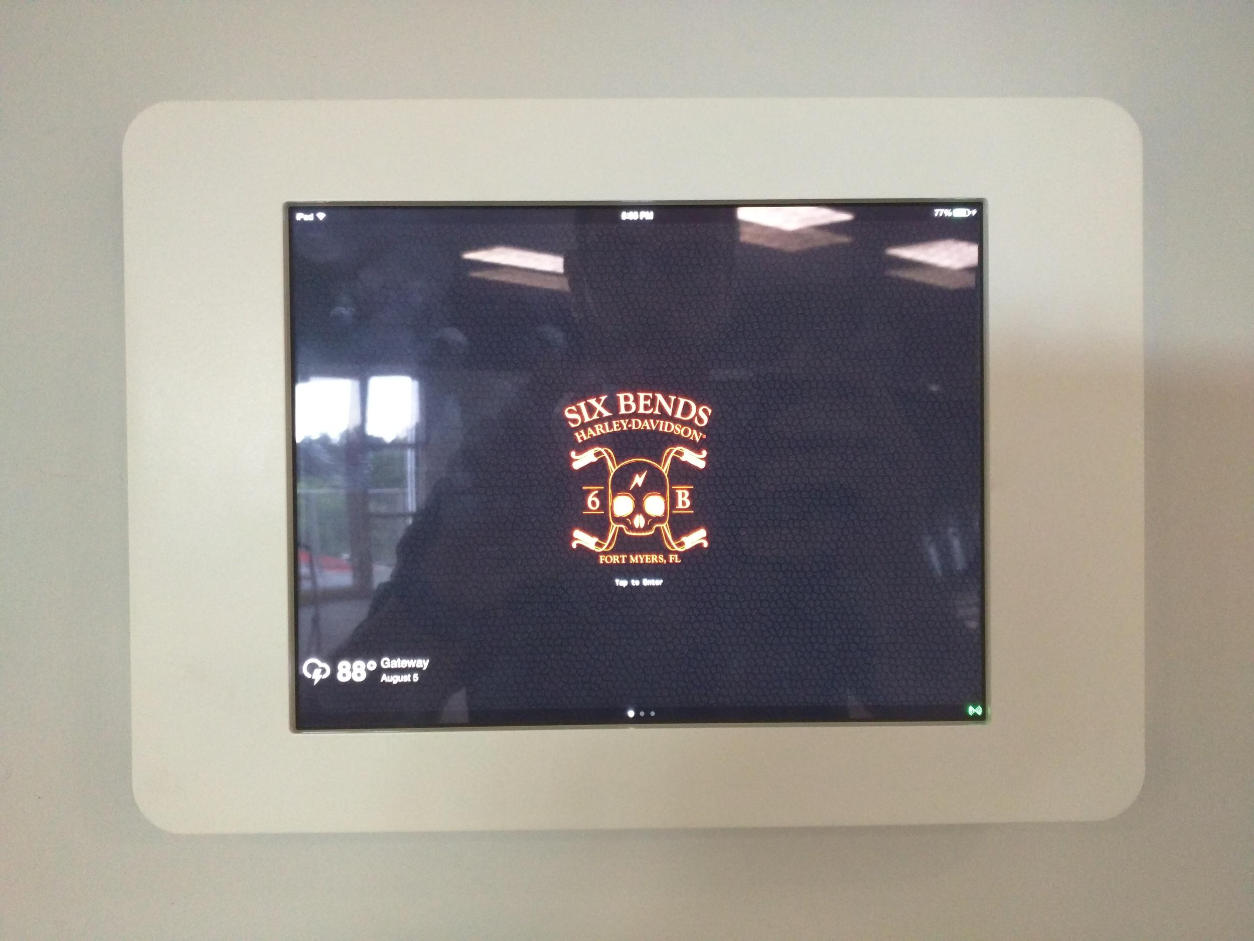iPad wall Mounted