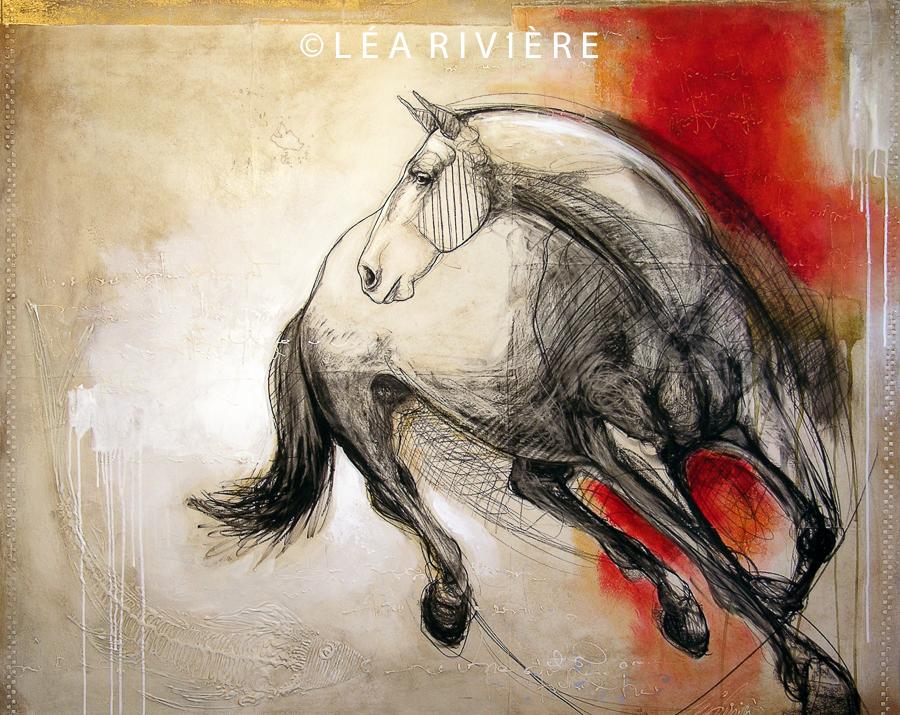 """©LéaRivière «Changement de cap» 48""""x68""""122cmx173cm 2012"""