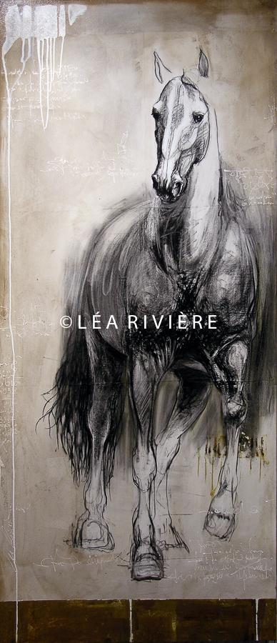 """©LéaRivière «La fière allure»  84""""x36"""" 213cmx92cm 2012"""