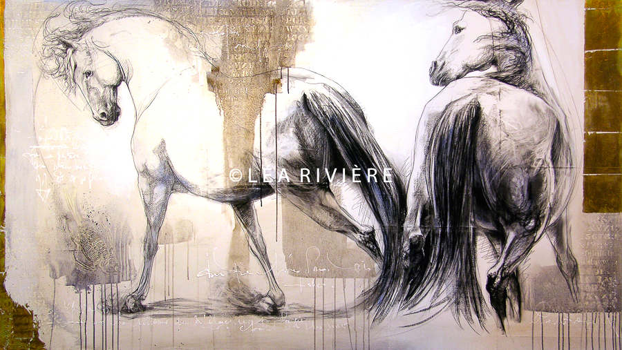 "©LéaRivière 84""x48"" 213cmx122cm vendu-sold"