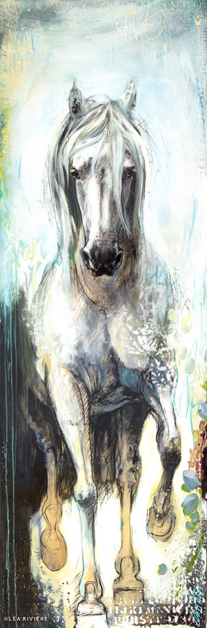 White hoof  (183x61cm) disponible