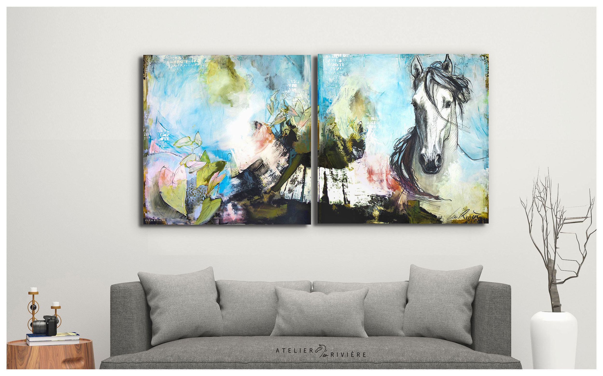 """Dance"" Binôme(122x244cm)  Disponible"