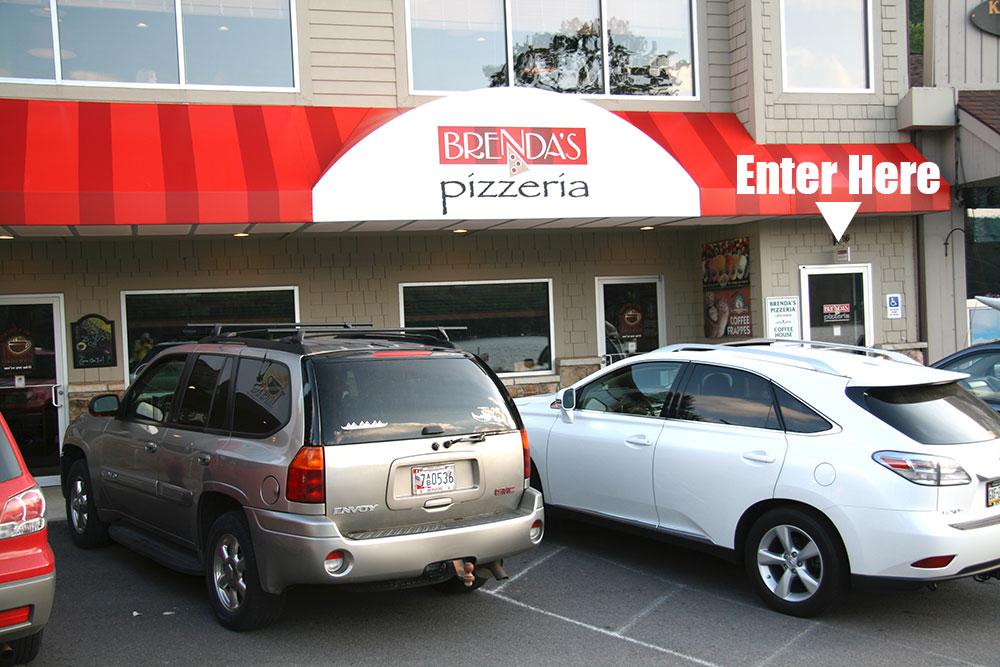 Brenda's Pizzeria, .4 miles south of the 219 Bridge