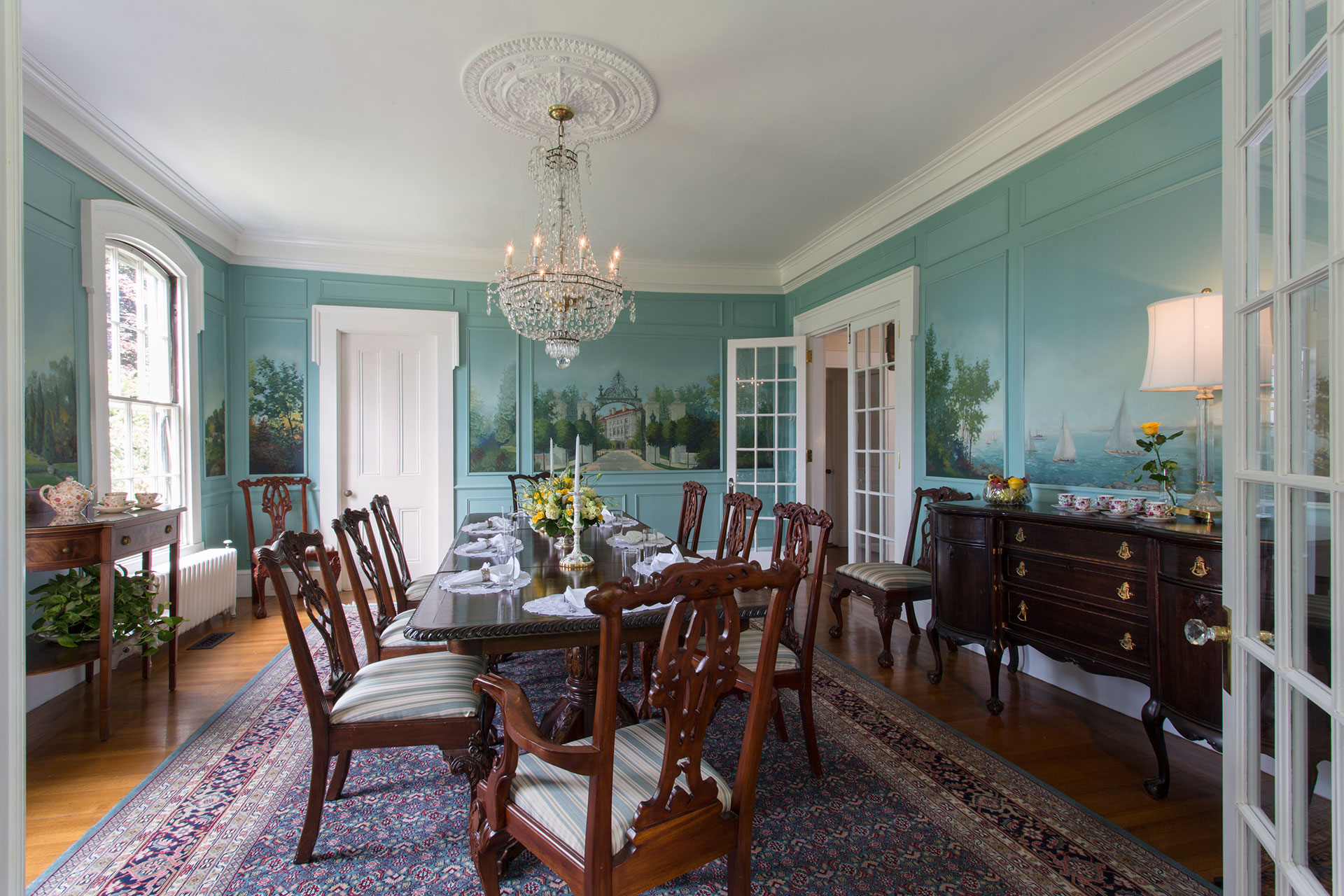 Breakfast Served at La Farge Perry House - Newport, RI
