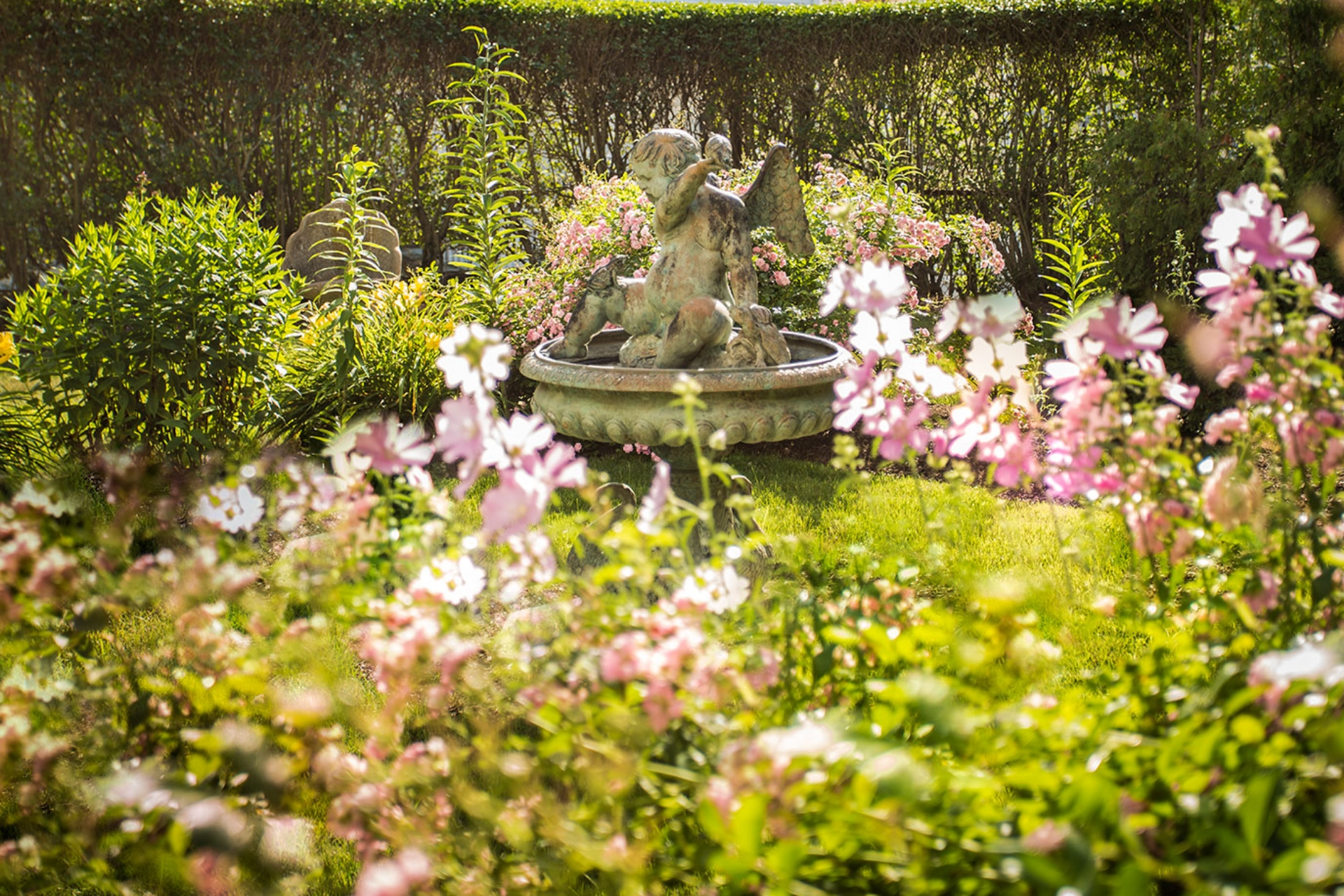 Gardens at La Farge Perry House B&B in Newport, RI