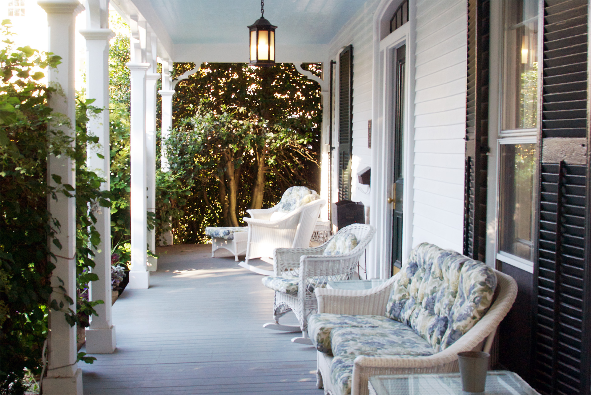 Relax on the Front Porch of La Farge Perry House - Newport, RI Inn