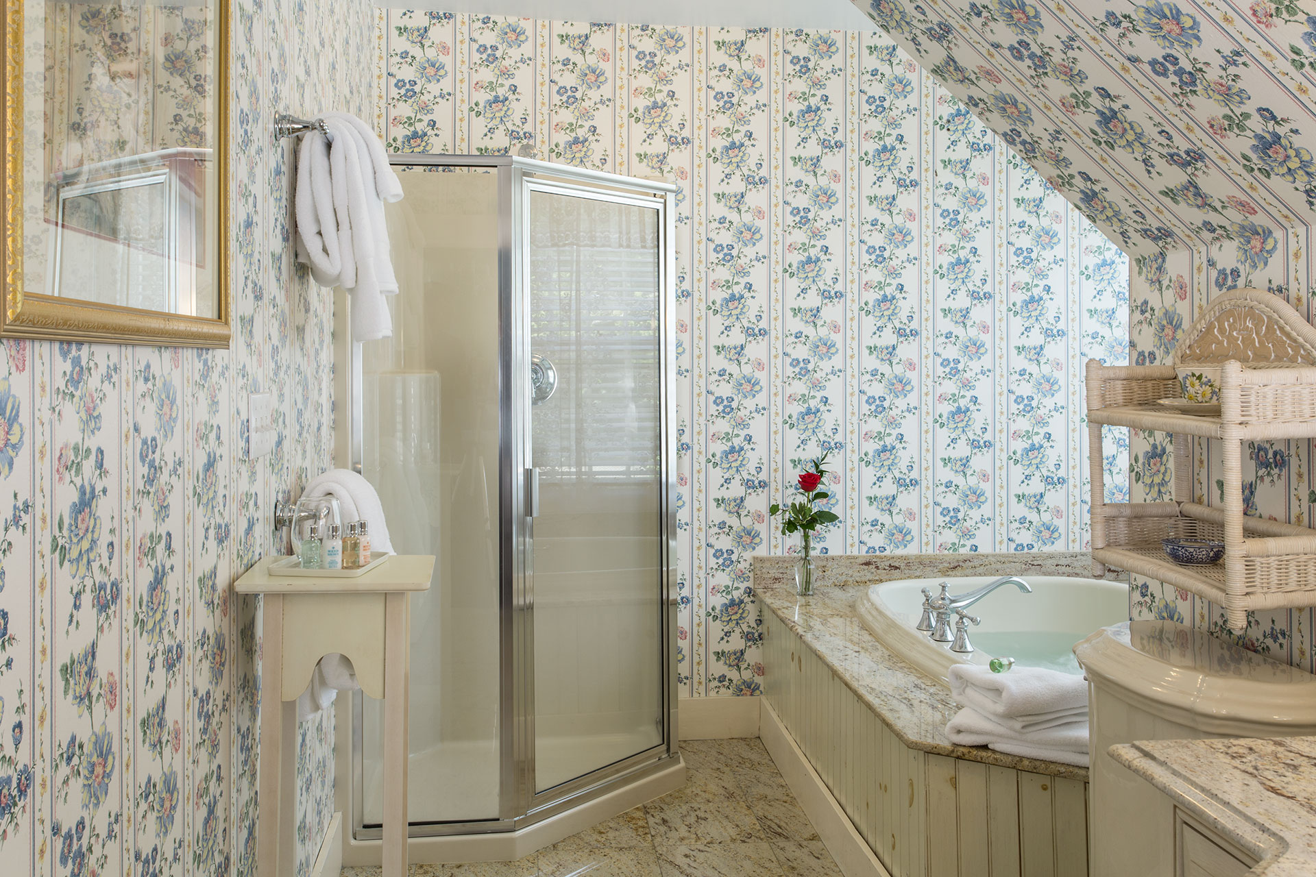 The Margaret Guest Room Bath at La Farge Perry - Newport, RI