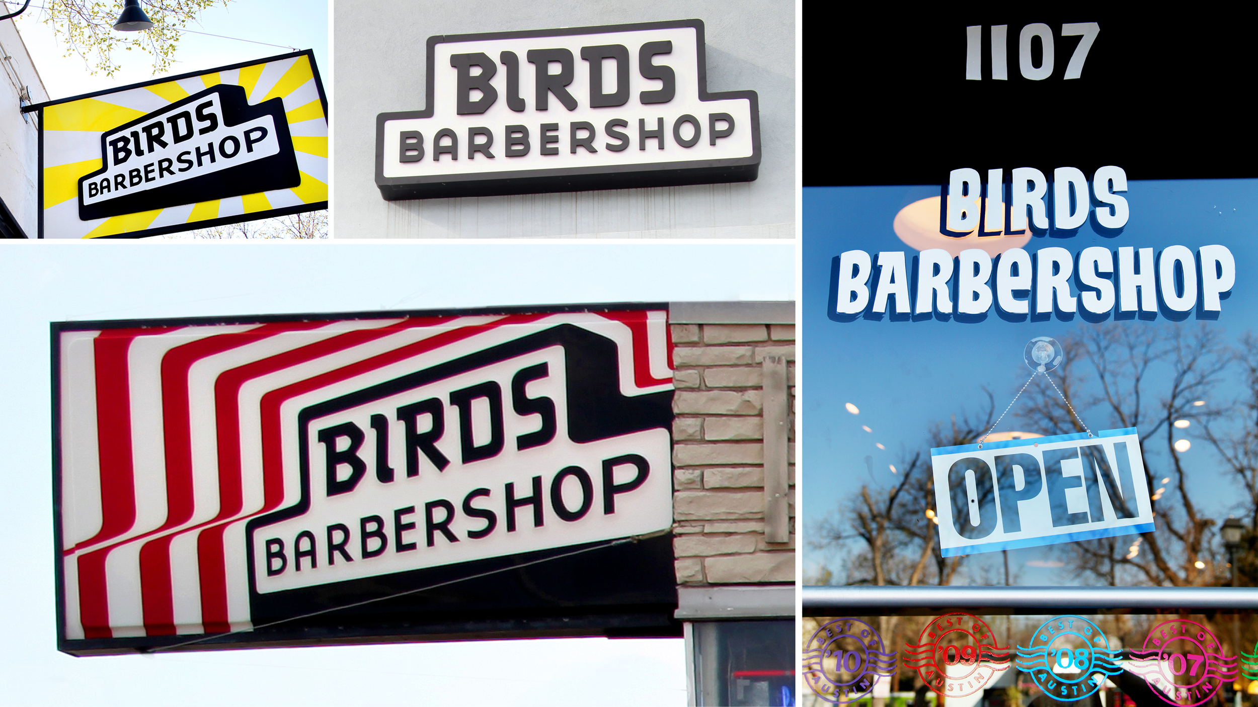 Door Number 3 Birds Barbershop Signage Redesign Advertising