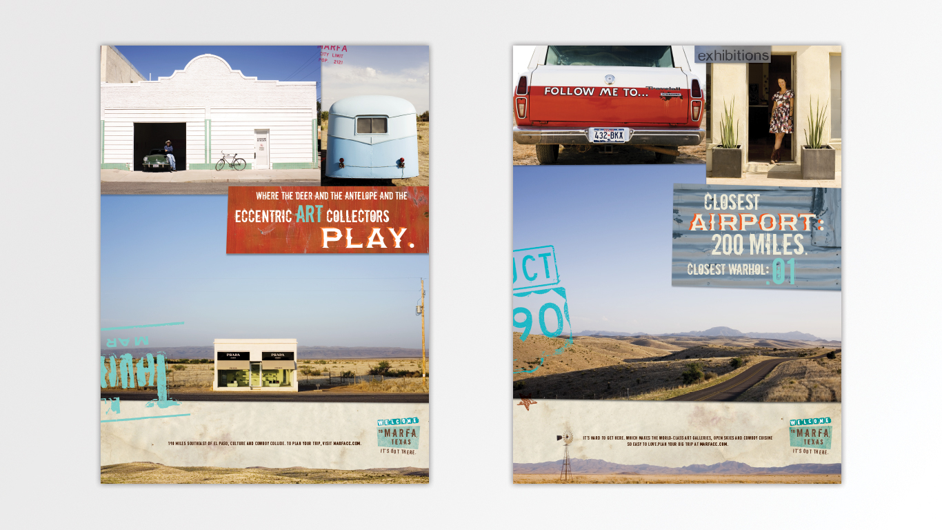 Door Number 3 Marfa Texas El Cosmico Prada Marfa Print Advertisements
