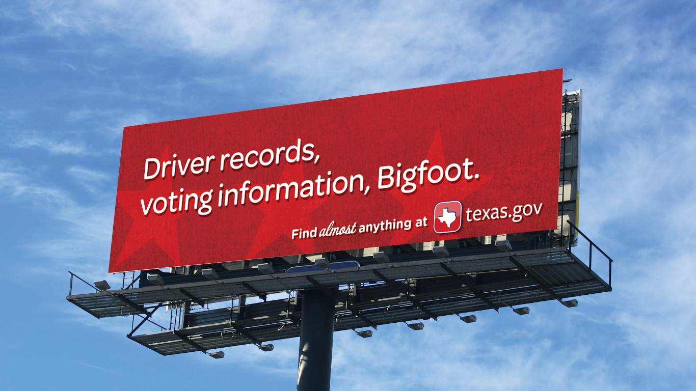 Door Number 3 Texas.gov Billboard Advertising