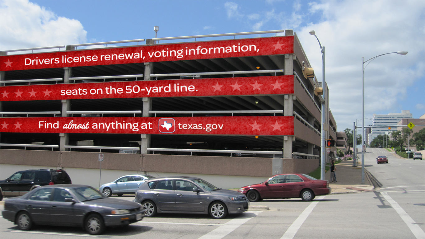Door Number 3 Texas.gov Outdoor Advertising Guerrilla Marketing