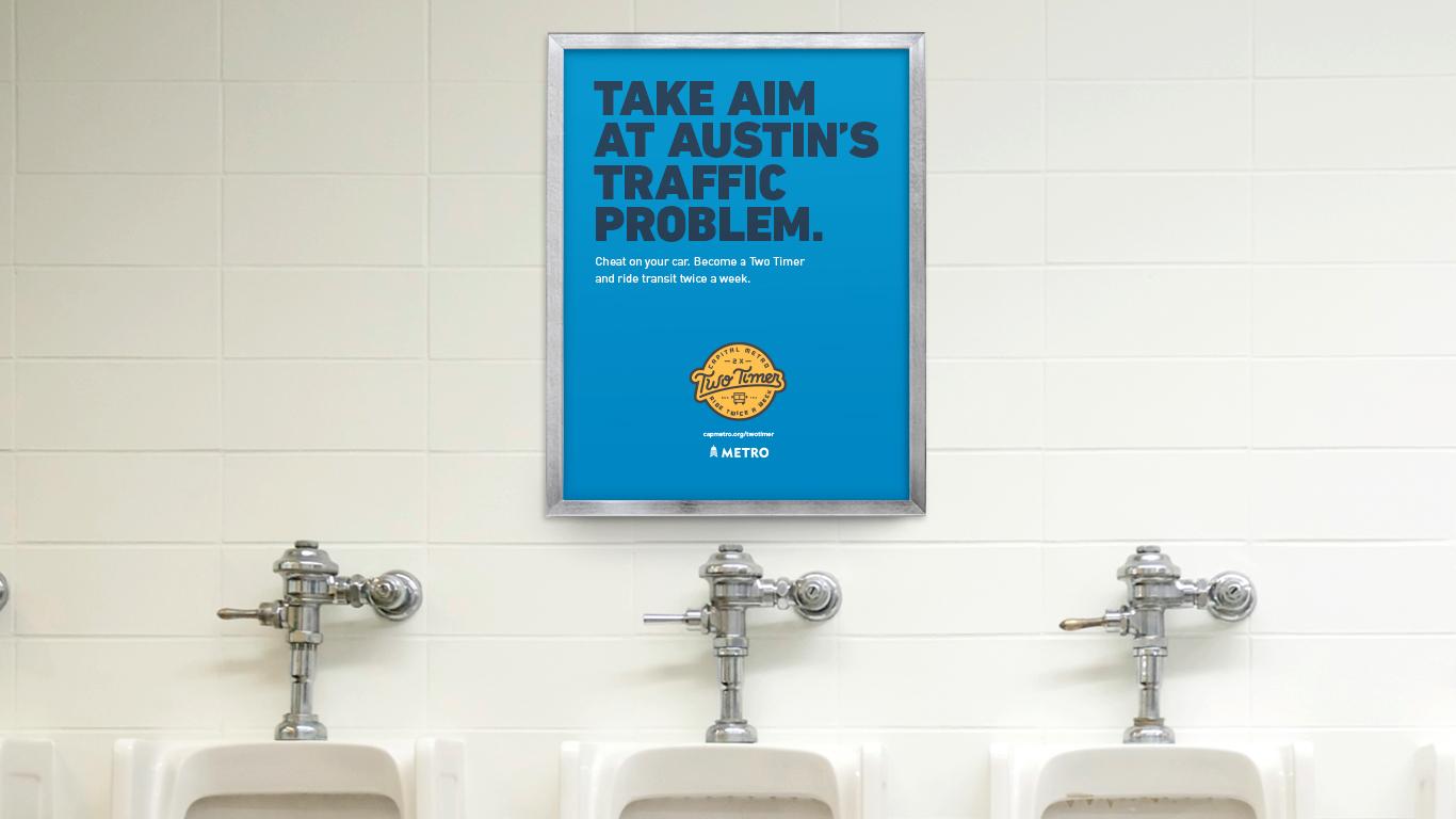 Door Number 3 CapMetro Two Timer Bathroom Advertisements