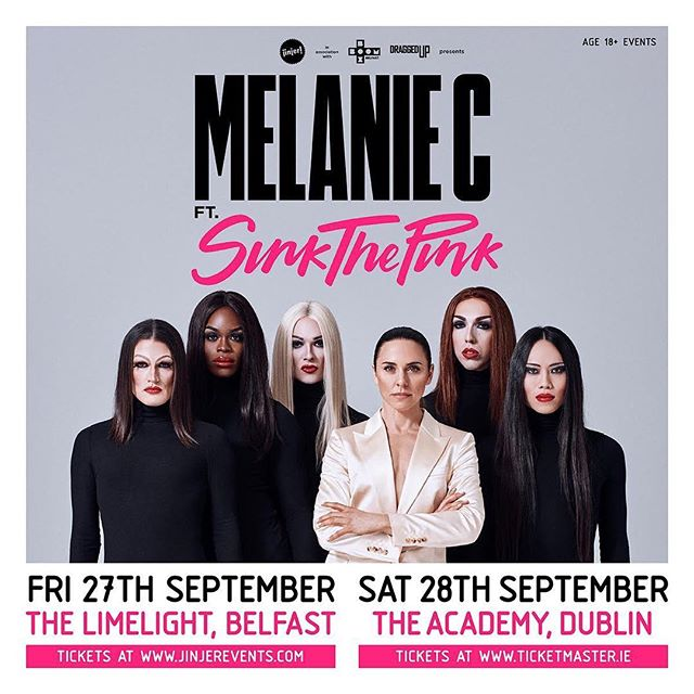 JUST ANNOUNCED... This September two become one as @MELANIECMUSIC & @SINK_THE_PINK make pop history in a unique, world-colliding live show coming to @academydublin. Super excited to be working alongside @jinjerevents for the Dublin date. Tickets available from Thursday at 10am.