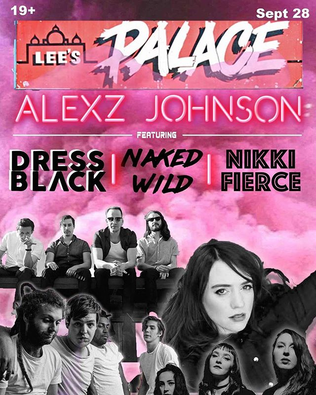 Our east coast tour is almost finished! We play Lee's Palace on Thursday, Sept 28th. Gonna be one killer show! w/ @naked.wild @nikkifierceband @alexzjohnsonofficial #leespalace #toronto #indie #live #dressblack #ustour2017