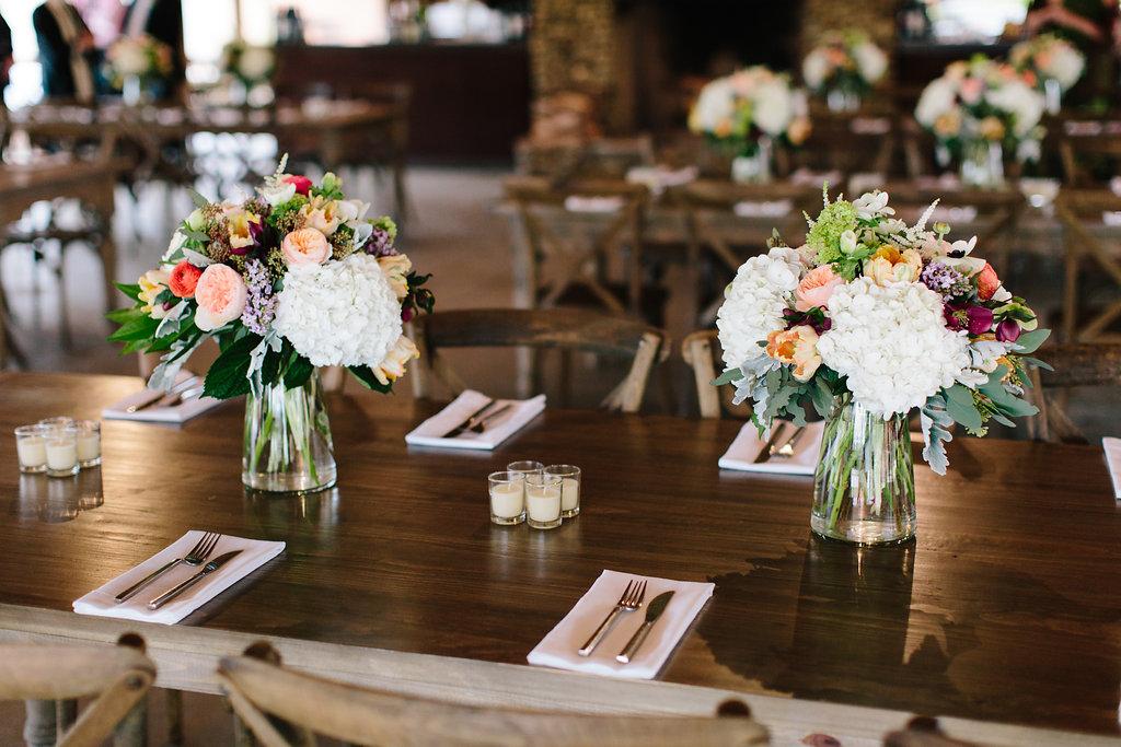 Spring wedding reception inspiration