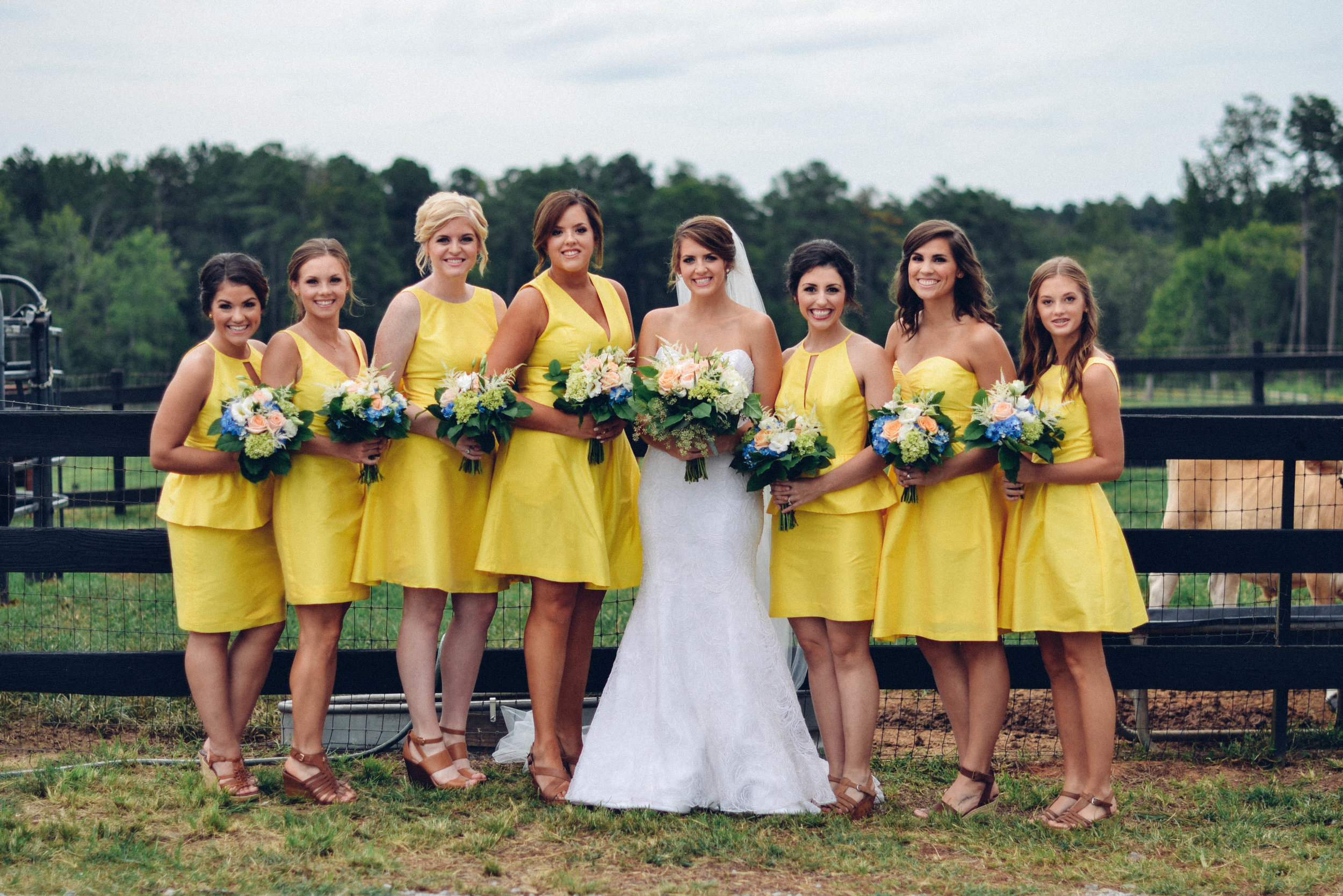 bride-bridesmaids-colorful-wedding-greg-boulus-events-augusta-georgia