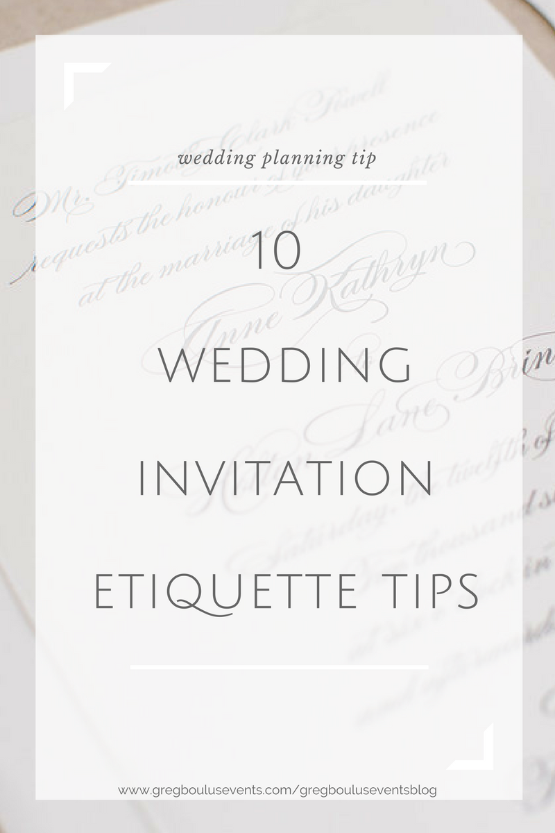 wedding invitations tips etiquette augusta georgia