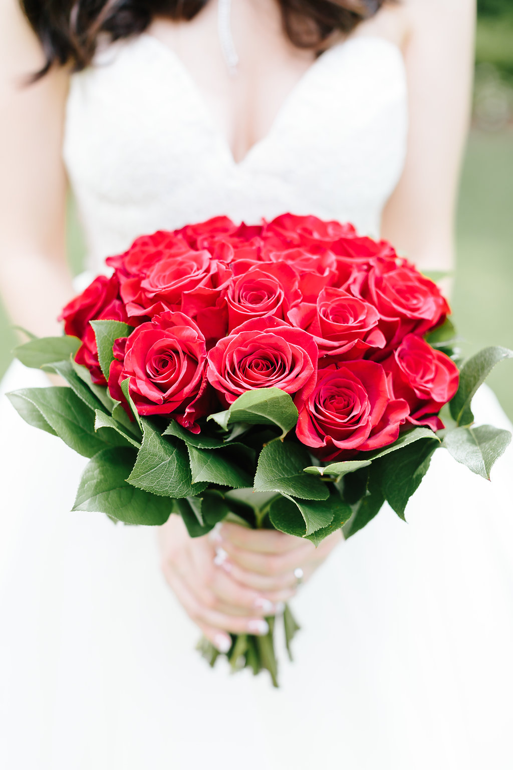 red rose bridal bouquet