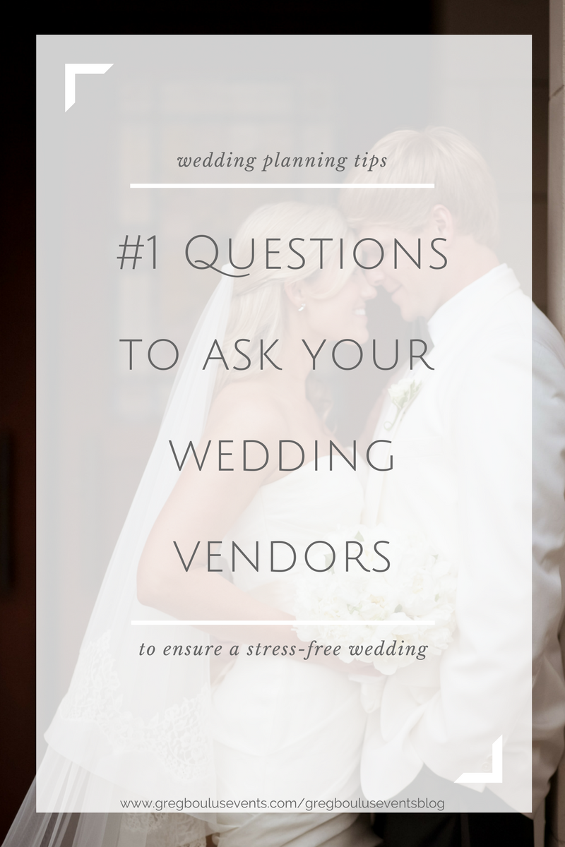 #1 Questions to Ask your Wedding Vendors Infographic